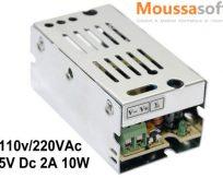 5 V 2A Alimentation a decoupage AC 110 V 220 V a DC 5 V 10 W maroc