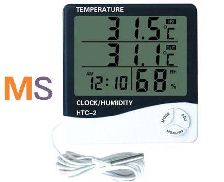 Vente HTC-2 Thermomètre hygromètre Humidimètre Horloge Alarme au Maroc : casablanca, rabat, tanger, fes, Meknès, Agadir, Marrakech ...