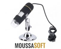 vente Microscope USB 5MP, maroc 8 LED zoom 50X 500X cassablanca